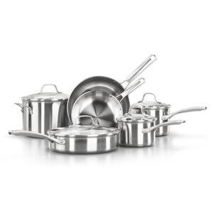 Calphalon classic stainless steel 10 piece cookware set