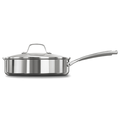 Calphalon classic stainless steel 3 quart saute pan with cover