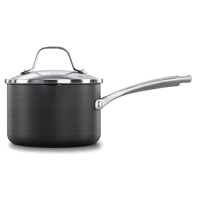 Calphalon classic hard anodized nonstick 1.5 quart sauce pan with cover