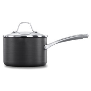 Calphalon classic hard anodized nonstick 2.5 quart sauce pan with cover