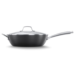 Calphalon classic hard anodized nonstick 12 inch jumber fryer pan with cover