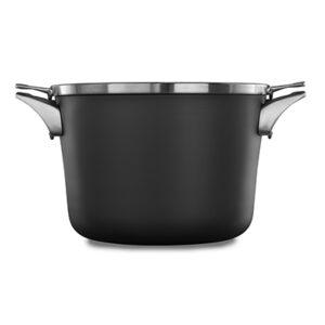 Calphalon premier space saving hard anodized nonstick 8 quart stock pot with cover