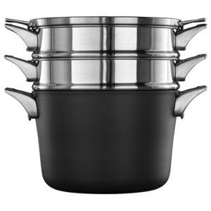 Calphalon premier space saving hard anodized non stick 8 quart multi-pot with cover