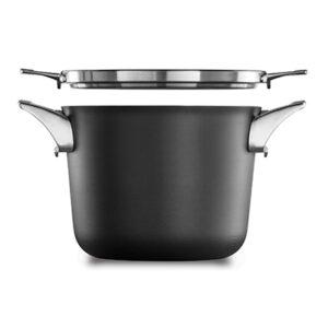 Calphalon premier space saving hard anodized nonstick 4.5 quart soup pot with cover