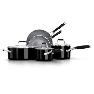 Calphalon oil infused ceramic black 8 piece cookware set