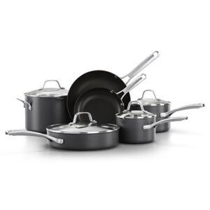 Calphalon classic hard-anodized nonstick 10 piece black cookware set