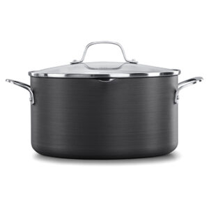Calphalon classic hard-anodized nonstick black 7 quart dutch oven with cover