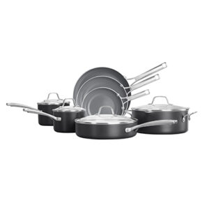 Calphalon classic oil infused ceramic nonstick 11 piece black cookware set