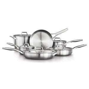 Calphalon Premier Stainless Steel 11 piece cookware set