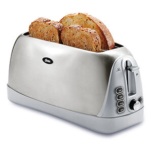 Oster 4-Slice Stainless Steel Long Slot Toaster